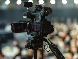 camera lors d'une video commerciale