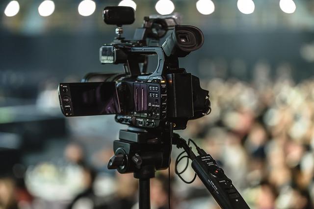 camera lors d'une video commerciale