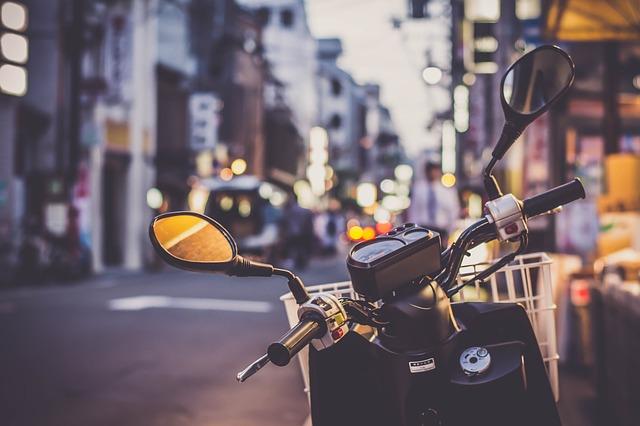 scooter dans la rue
